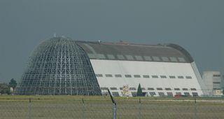 Hangar #1 door stripped