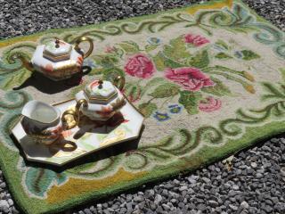 Grandmother hooked rug