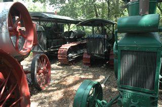 Tractors in yard
